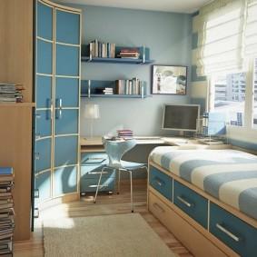 детская комната 8 кв м варианты идеи
