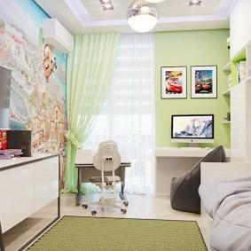 детская комната 8 кв м виды фото