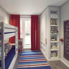 детская комната 8 кв м виды декора