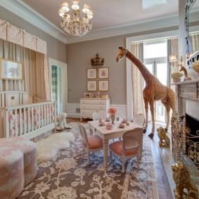 комната для новорожденного варианты фото