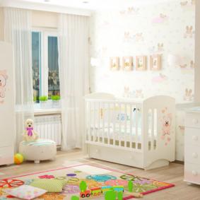 комната для новорожденного фото идеи