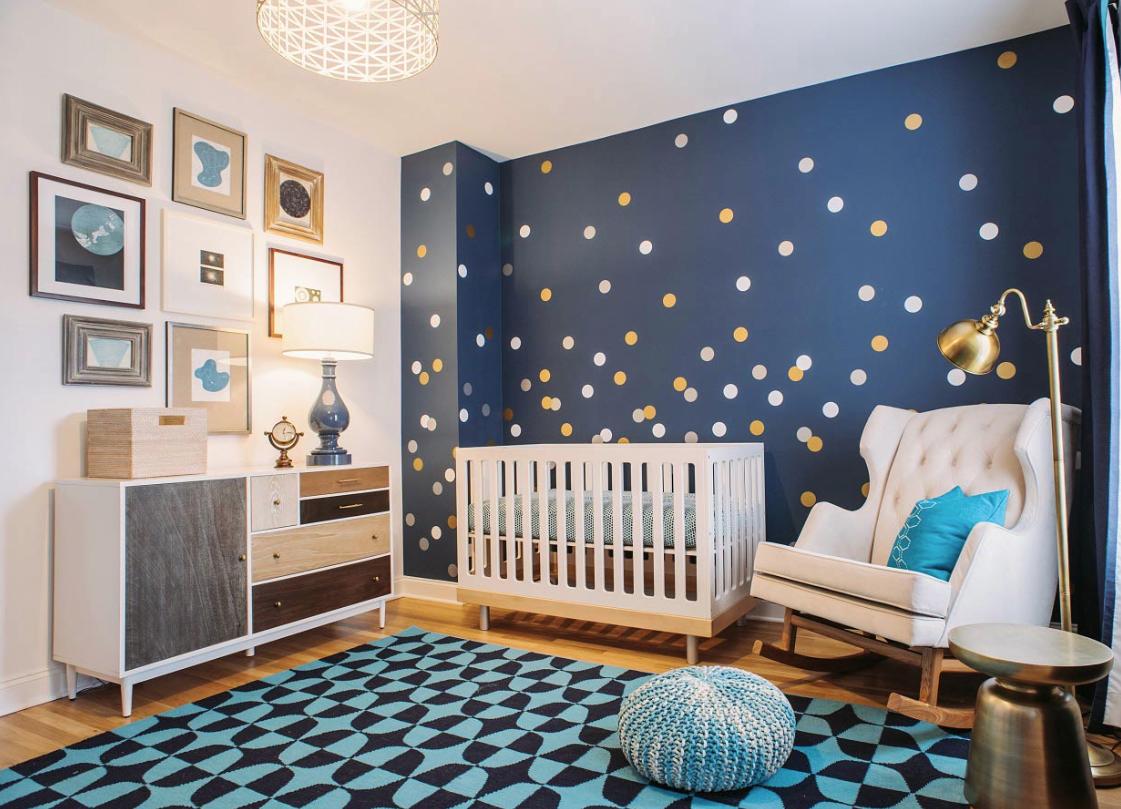 детская комната для новорожденного мальчика