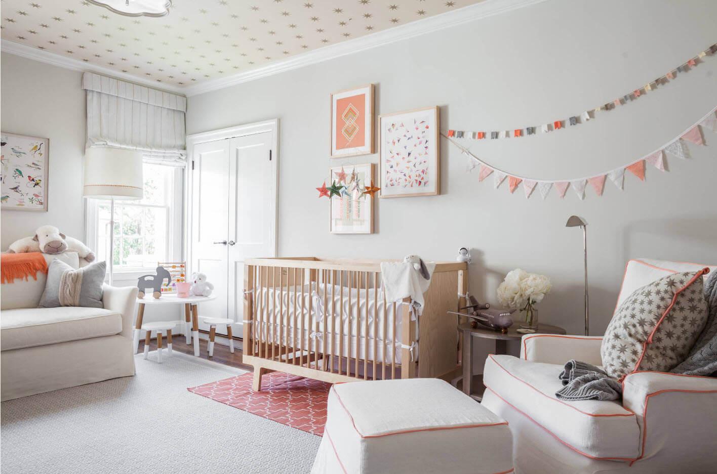 комната для новорожденного скандинавский стиль