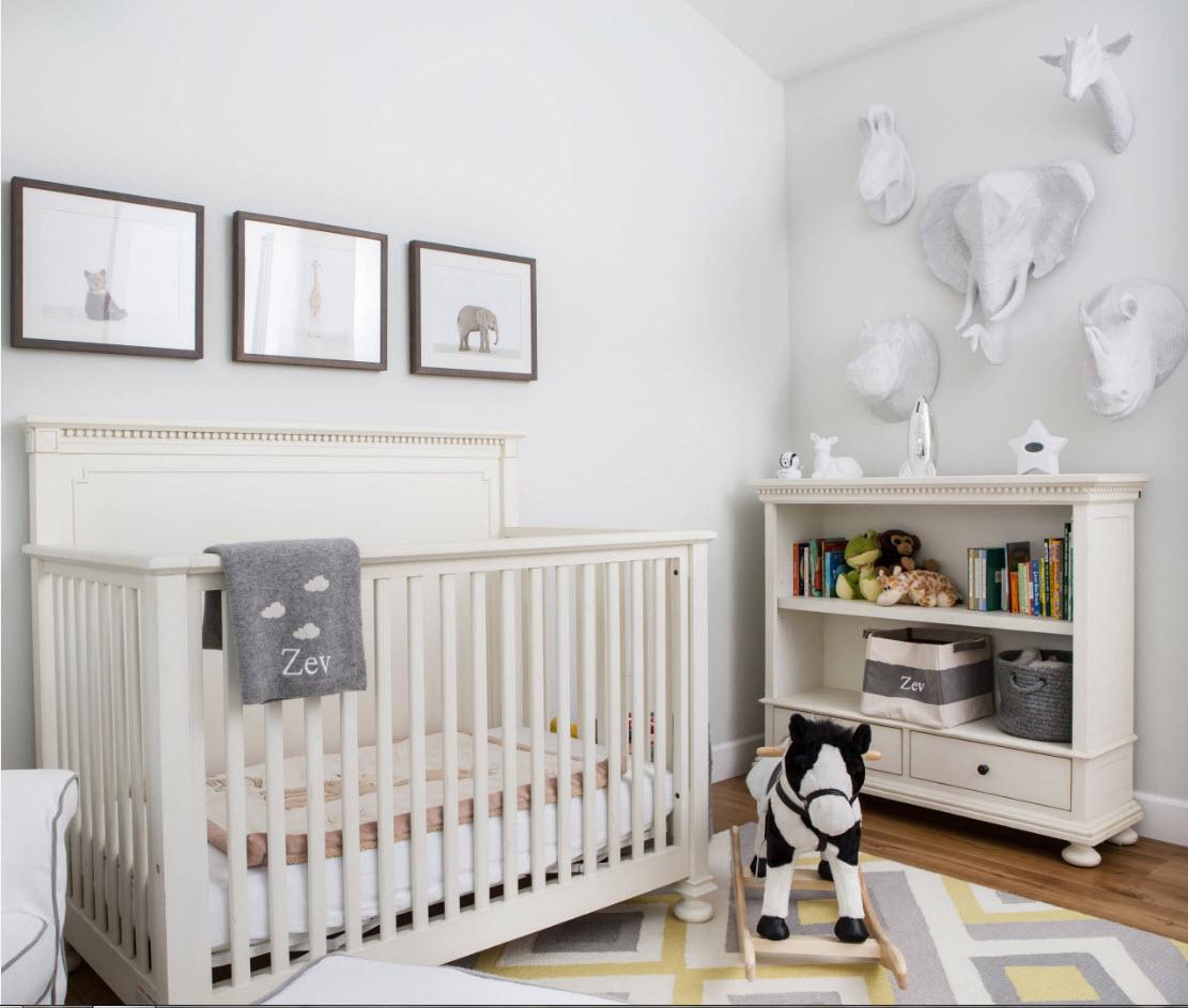 комната для новорожденного светлая
