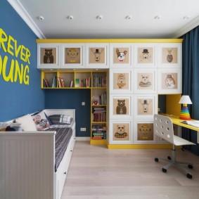детская комната для школьника дизайн идеи