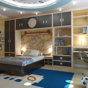 детская комната для школьника идеи