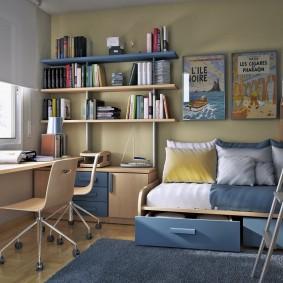 детская комната для школьника фото виды