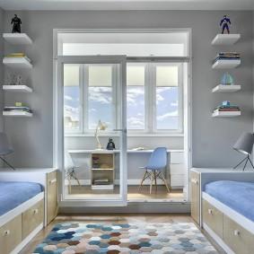 детская комната на балконе декор идеи