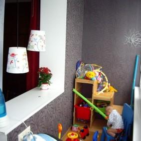 детская комната на балконе фото вариантов