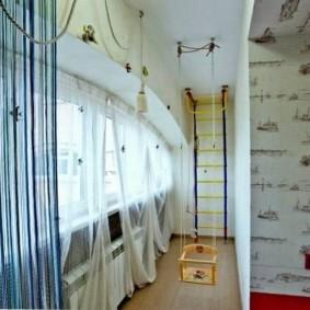 детская комната на балконе виды оформления