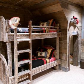 детская комната в деревянном доме дизайн фото
