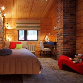детская комната в деревянном доме фото декора