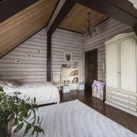 детская комната в деревянном доме идеи декор