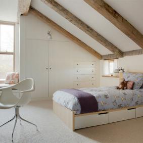 детская комната в деревянном доме интерьер