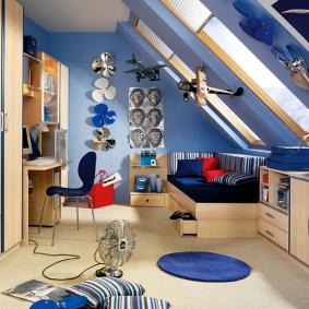 детская комната в деревянном доме интерьер фото