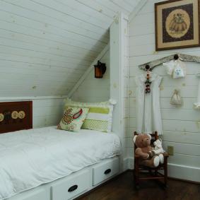 детская комната в деревянном доме фото интерьера