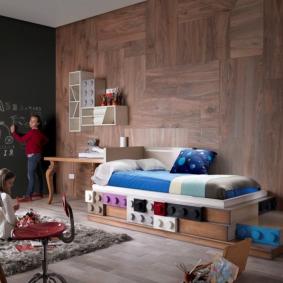 детская комната в деревянном доме идеи интерьер