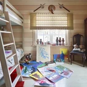 детская комната в деревянном доме фото