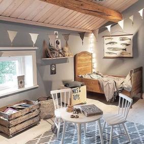 детская комната в деревянном доме оформление фото