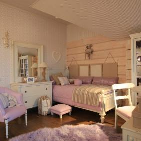 детская комната в деревянном доме фото оформление