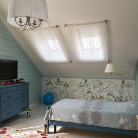 детская комната в деревянном доме идеи оформление