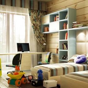 детская комната в деревянном доме варианты