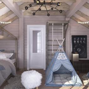 детская комната в деревянном доме идеи