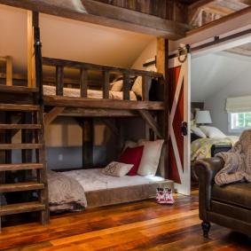 детская комната в деревянном доме фото дизайна