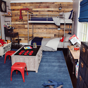 детская комната в деревянном доме фото вариантов