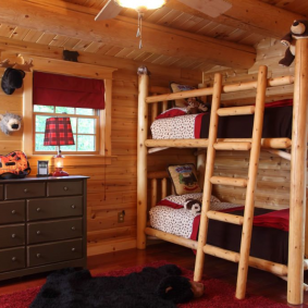 детская комната в деревянном доме варианты идеи