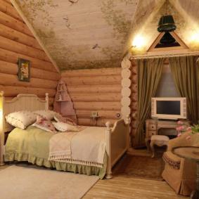 детская комната в деревянном доме фото видов
