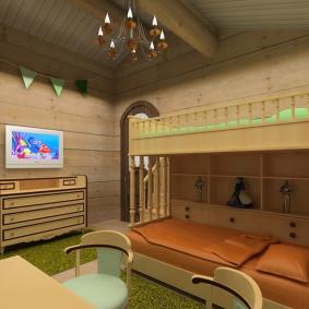 детская комната в деревянном доме виды идеи