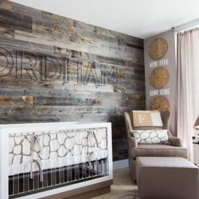 детская комната в деревянном доме идеи фото