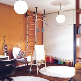 детская комната в деревянном доме дизайн идеи
