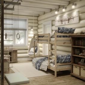 детская комната в деревянном доме обзор