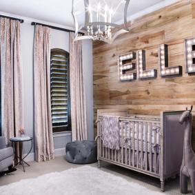 детская комната в деревянном доме виды декора