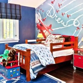 детская комната в деревянном доме фото идеи