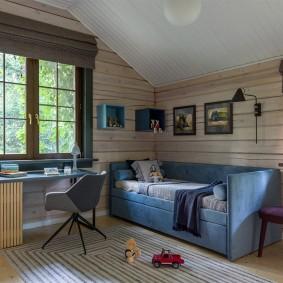детская комната в деревянном доме дизайн