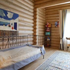 детская комната в деревянном доме декор