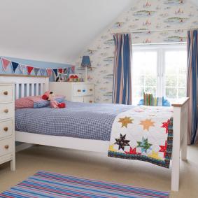 детская комната в деревянном доме декор фото