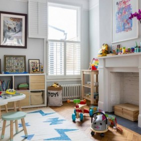 детская комната в скандинавском стиле декор фото
