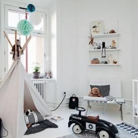 детская комната в скандинавском стиле фото интерьер
