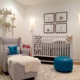детская комната в скандинавском стиле фото оформление