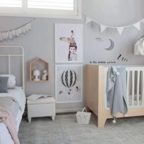 детская комната в скандинавском стиле варианты фото