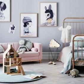 детская комната в скандинавском стиле фото дизайна
