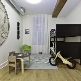 детская комната в стиле лофт идеи виды