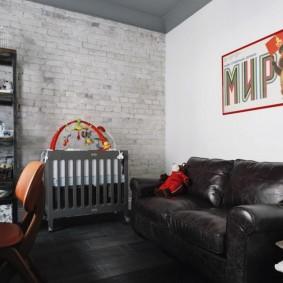 детская комната в стиле лофт виды оформления