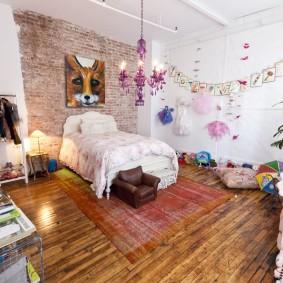 детская комната в стиле лофт дизайн