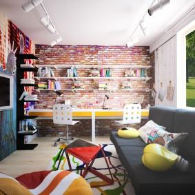 детская комната в стиле лофт дизайн фото