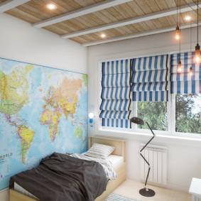 детская комната в стиле лофт дизайн идеи